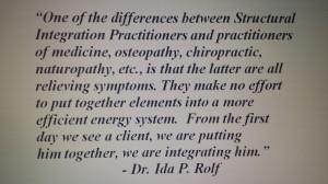 Ida Rolf Quote